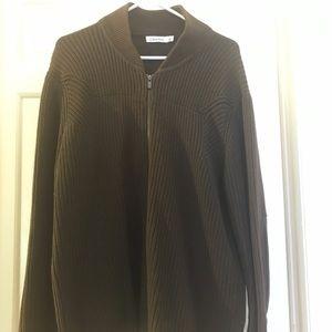 Brown Calvin Klein 100% cotton zipup